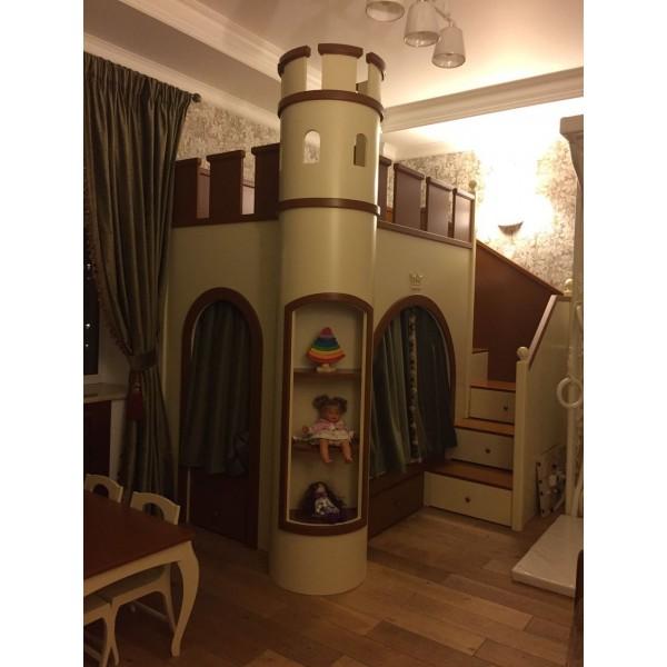 Бархатные шторы в детскую кровать