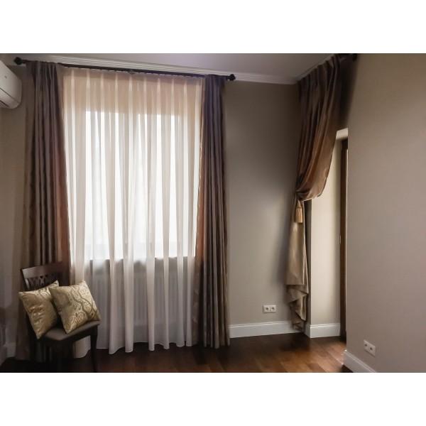 Портьеры с 3д орнаментом, тюль на ручной сборке, декоративная портьера на дверь