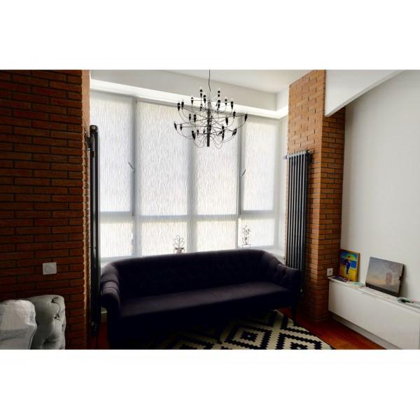 Рулонные шторы на эркерное окно 4категория ткани